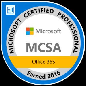 MCSA Office 365 Logo