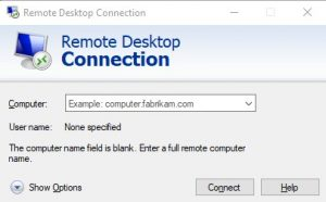 Samples RDP connection